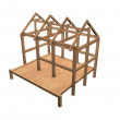 New house framework — Stock Photo