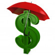 Currency umbrella — Stock Photo