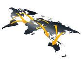 Trade network — Stock Photo