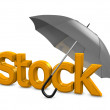 Stock Photo: Stock umbrella