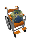 Disable earth — Stock Photo