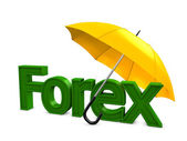 Forex umbrella — Stock Photo