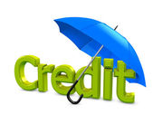 Credit umbrella — Stock Photo