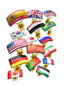 Parachute Country flag — Stock Photo