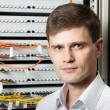 The engineer in a data processing center of ISP Internet Service Provider s — Stock Photo #8449614