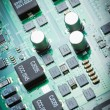 An Abstract electronic printed circuit board. PCB. — Stock Photo