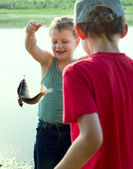 The young fisherman. — Stock Photo