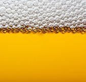 Closeup beer with foam. Macro. — Stock Photo
