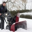 Man using snow blower — Stock Photo
