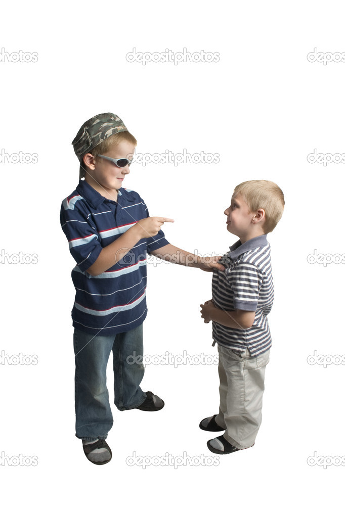Older boy bullying younger boy  Stock Photo #10508229