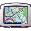 Close up of a Gps with bright and colourful screen — Stock Photo