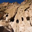 Stock Photo: Bandelier New Mexico Cliff Dwellings