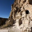 Stock Photo: Cliff dwellings at Bandelier New Mexico