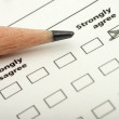 Royalty-Free Stock Photo: Survey indicating strongly agree