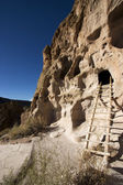 Cliff dwellings at Bandelier New Mexico — Stock Photo