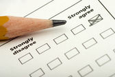 Survey indicating strongly agree — Stock Photo