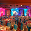 Decorated Ballroom for Indian Weding - Stock Photo