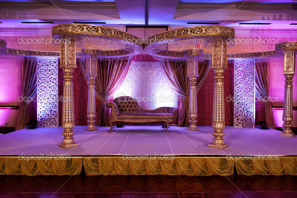 Image of a colorful Indian wedding mandap — Stock Photo #10395285