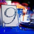Banquet Table with Number Card - Stock Photo