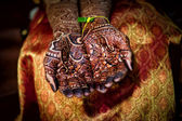 Henna Tattoo Hands — Stock Photo