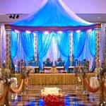 Indyjski ślub mandap — Zdjęcie stockowe