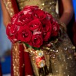Image of a beautiful Indian bride's bouquet — Stock Photo