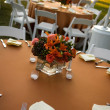 Table setting at an outdoor wedding - Stock Photo