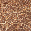Arched brick background pattern - Stock Photo