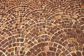 アーチ形の煉瓦背景パターン — ストック写真