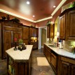 Stock Photo: Luxuriously decorated kitchen