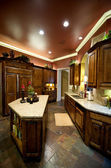 Luxuriously decorated kitchen — Stock Photo