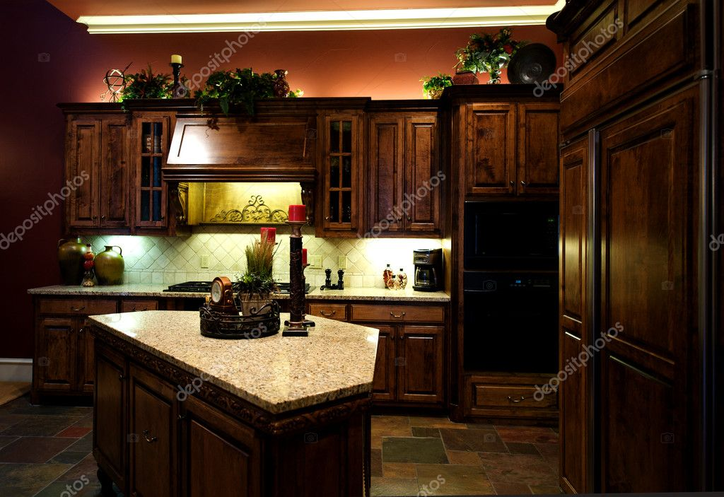 An image of a luxuriously decorated kitchen with — Stock Photo #8950001