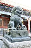 Čínská socha lva — Stock fotografie