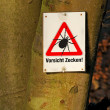 Tick warning - Stock Photo