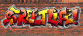 Graffiti wall — Foto Stock