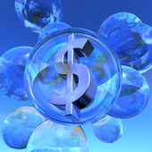 Dollar bubble — Stock Photo