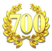 Number seven hundred — Stock Photo