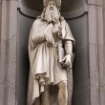 Постер, плакат: Statue of Leonardo da Vinci