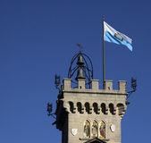 San Marino Flag and Tower — Stock Photo