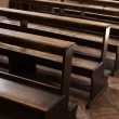 Cathedral Pews — Stock Photo
