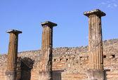 Three Columns in Pompeii — Stock Photo