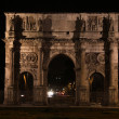 The Arch of Constantine at Night — Stock Photo