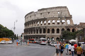 Colosseum and Street — Stock Photo