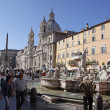 Piazza Navona Fountains — Stock Photo