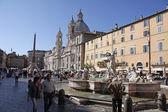 Piazza Navona Fountains — Stock Photo