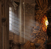 Rays of Light in St. Peter's — Stock Photo