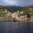 Overcast Riomaggiore — Stock Photo