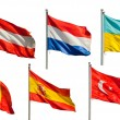 Collection of european flags — Stock Photo #8223066