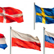 Collection of european flags — Stock Photo #8223072