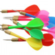 Colored Darts — Stock Photo